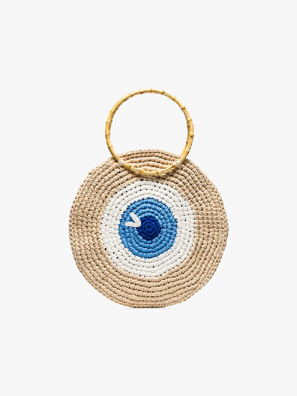 My Beachy Side Eye Woven Tote Bag In  Multicoloured