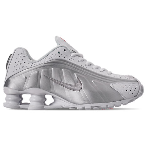 nike men's shox r4 casual shoes in white size 75 leather
