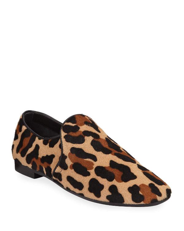 dee75452c95 Aquatalia Revy Leopard Calf Hair Loafers