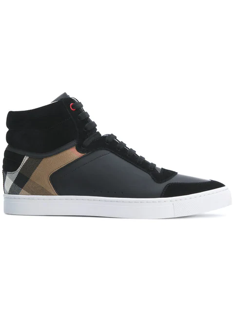 b3a735cb7 Burberry Men's Reeth Leather & Canvas High-Top Sneakers In Black ...