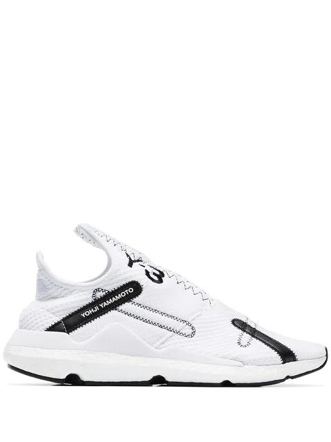 Y-3 Low-Top Sneakers Reberu Polyamide Polyester Textile Logo Black White In White & Black