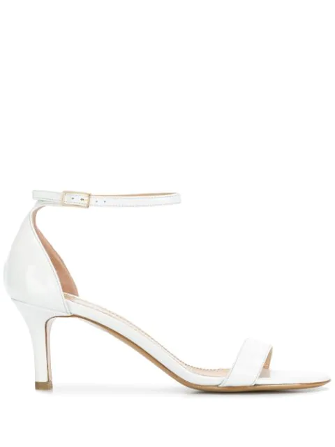 Antonio Barbato Mid-Heel Sandals In White