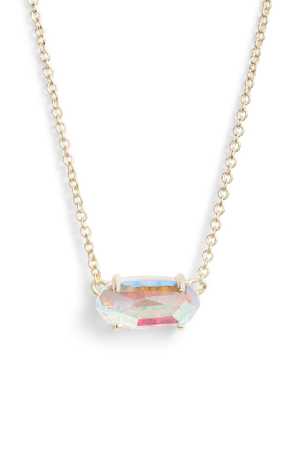 0ce33a838 Kendra Scott Ever Druzy Pendant Necklace In Dichroic Glass/ Gold ...