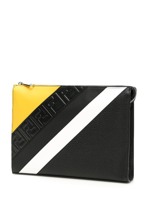 1b88894381 Fendi Ff Stripe Clutch Bag In Multi | ModeSens