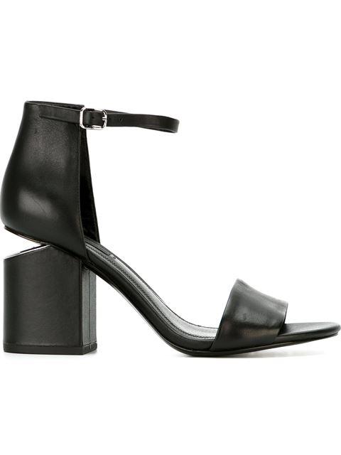 Alexander Wang Women's Abby Utilitarian High Block-Heel Sandals In 001