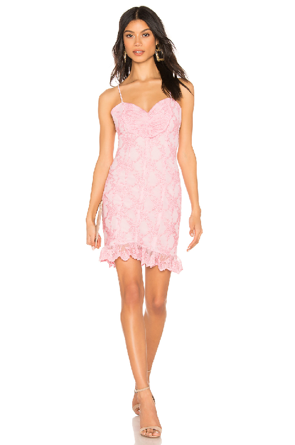 X By Nbd Terry Mini Dress In Light Pink