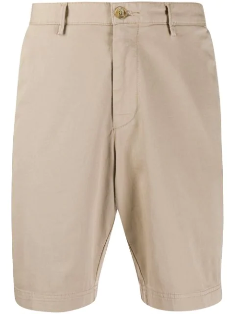 Hugo Boss Knee-high Bermuda Shorts In Neutrals
