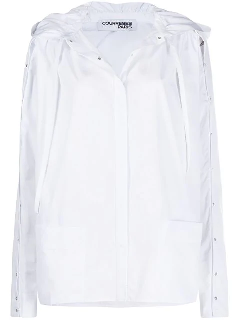 CourrÈGes Hooded Shirt In White
