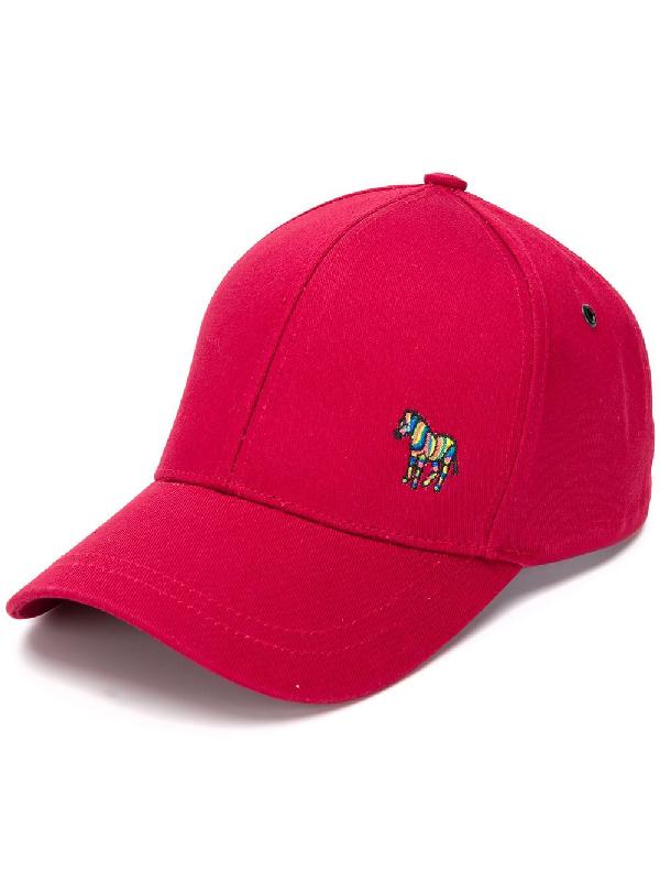 Ps By Paul Smith Zebra Logo Baseball Cap In Red