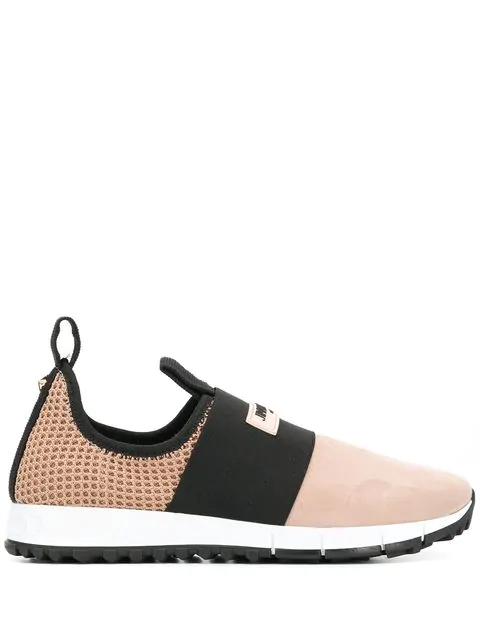 Jimmy Choo Oakland Suede And Mesh Sneakers In Pink