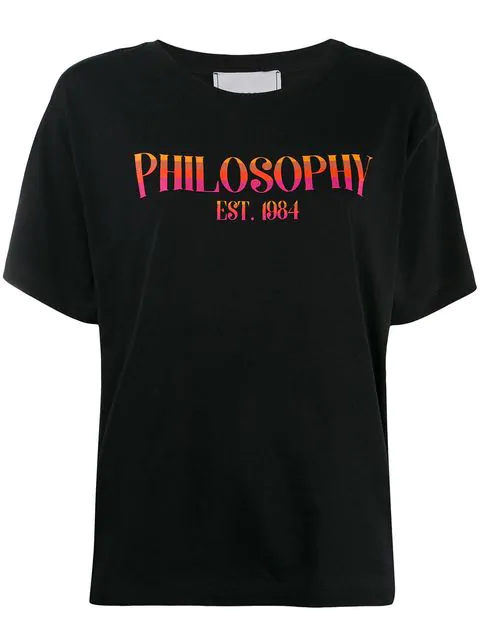 Philosophy Di Lorenzo Serafini Logo Round Neck T-Shirt In Black