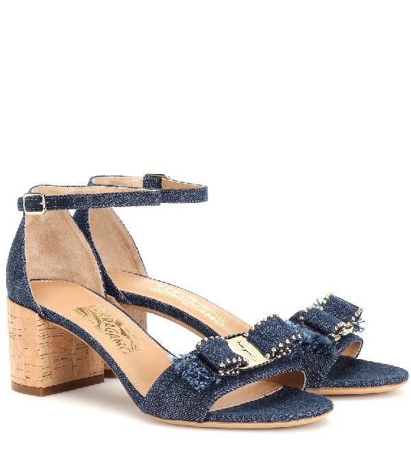0a518e07356 Women's Gavina Jeans Cork Heel Sandals in Blue