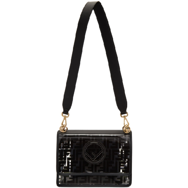 Fendi Transparent And Black Forever  Kan I F Bag In F0Kur Black