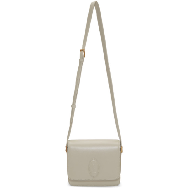 8c213a8b8bd Saint Laurent Off-White Small Le 61 Saddle Bag In 9207 Ivory | ModeSens