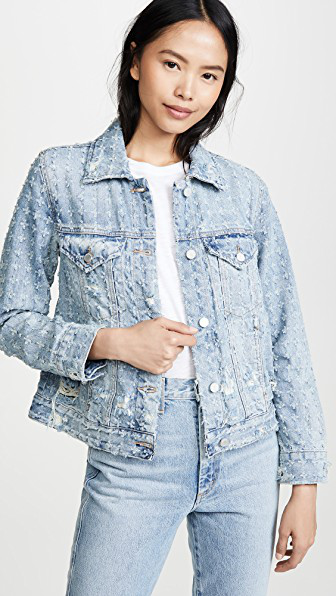 Blank Denim Punch Line Jacket