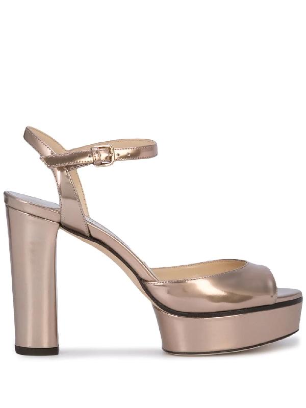 Jimmy Choo Peachy Platform Sandals - Metallic