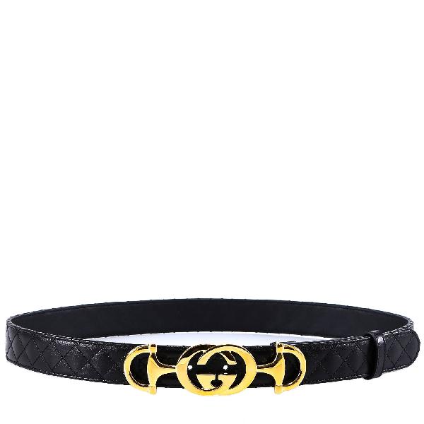 682c1fa31737 Gucci Interlocking G Horsebit Belt In Black | ModeSens