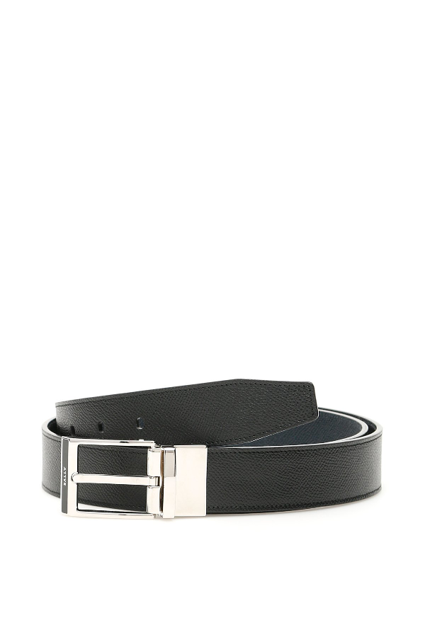 Bally Logo Bucke Belt In Black