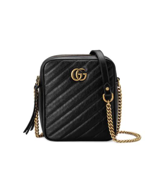 Gucci Mini Marmont 2.0 Leather Crossbody Bag - Black