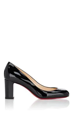 c562be895e41 CHRISTIAN LOUBOUTIN. Lady Gena Block-Heel Leather Pumps