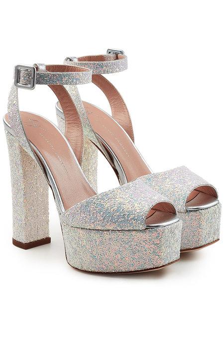 0d66b76c85119 Giuseppe Zanotti Lavinia Leather Platform Sandals With Glitter In  Multicolour