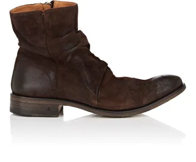 John Varvatos Men's Morrison Sharpei Suede Boots In Dk.Brown