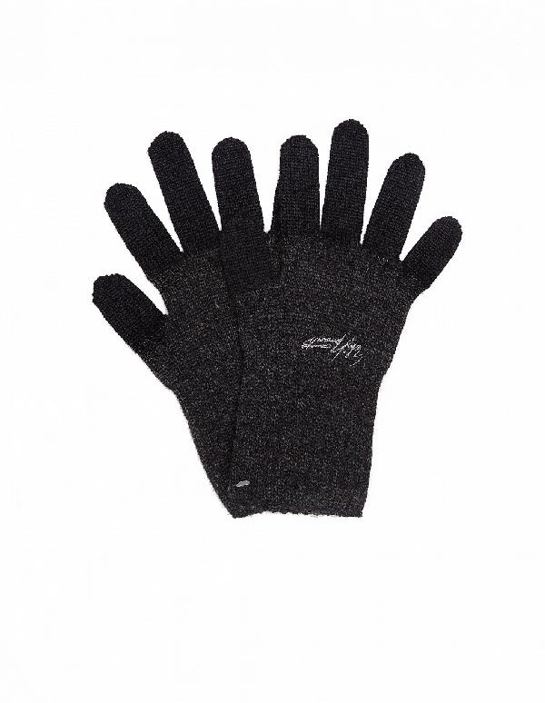 Yohji Yamamoto Wool Gloves In Grey