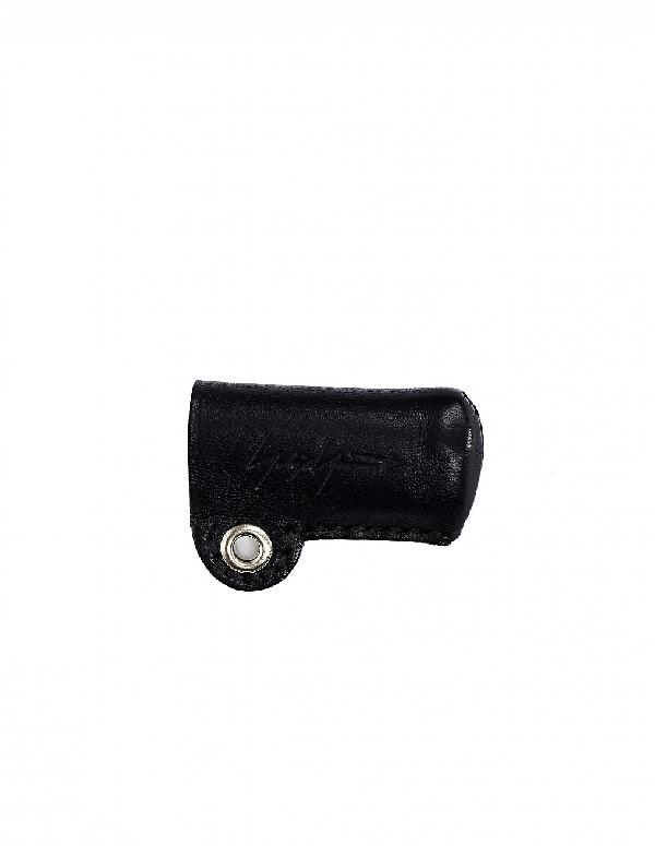 Yohji Yamamoto Leather Lighter Case In Black