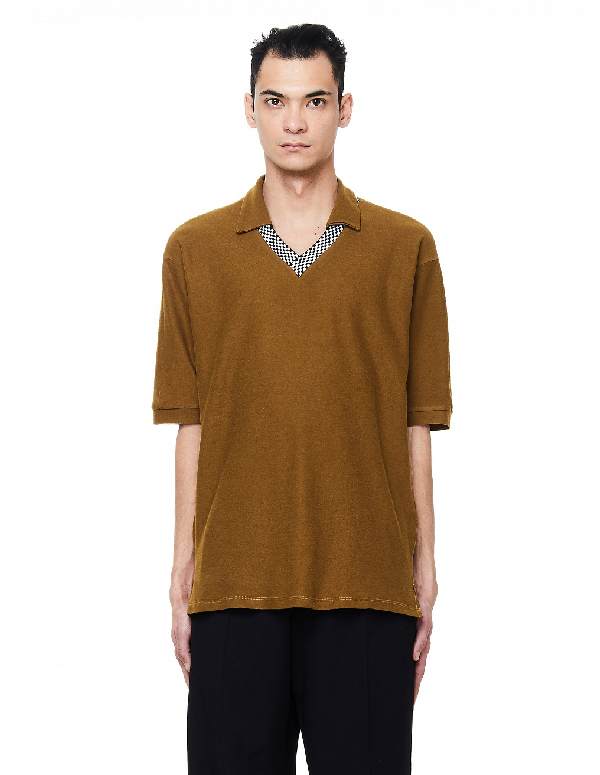 Enfants Riches Deprimes Rudimentary Proto Polo In Brown