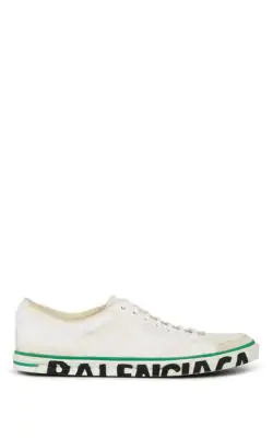 Balenciaga Match Leather Sneakers In White