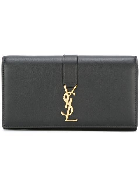 34ec87b3d4 Ysl Large Flap Wallet In Black Leather