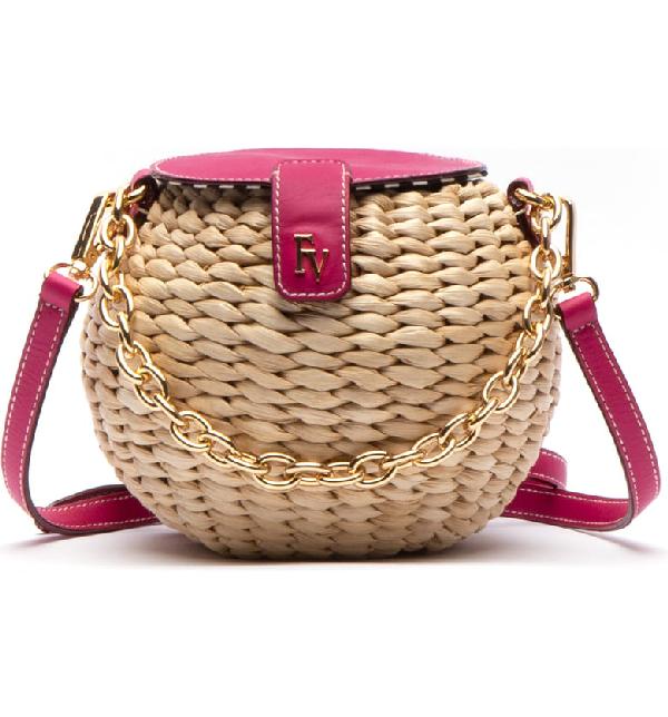 af683c819 Frances Valentine Honeypot Woven Crossbody Bag - Pink In Natural/ Bright  Pink