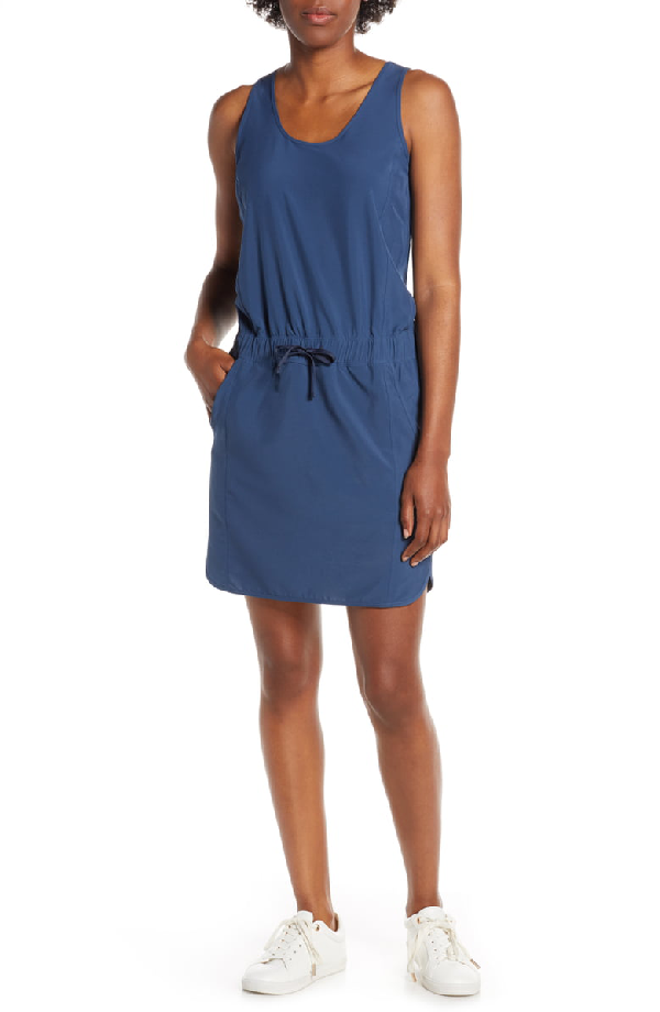 Patagonia Fleetwith Drawcord Dress In Stone Blue