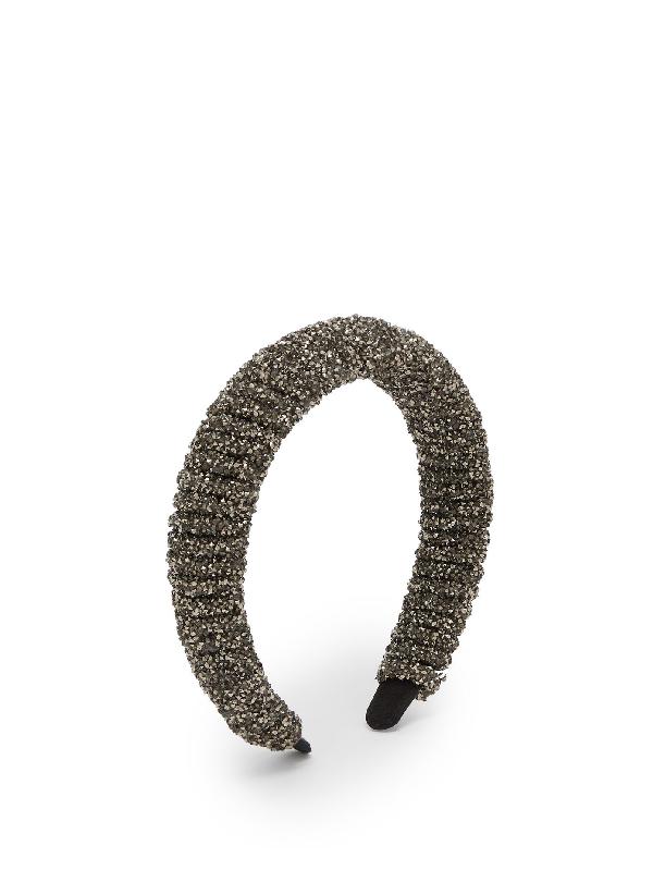 Germanier Crystal-embellished Headband In Dark Grey