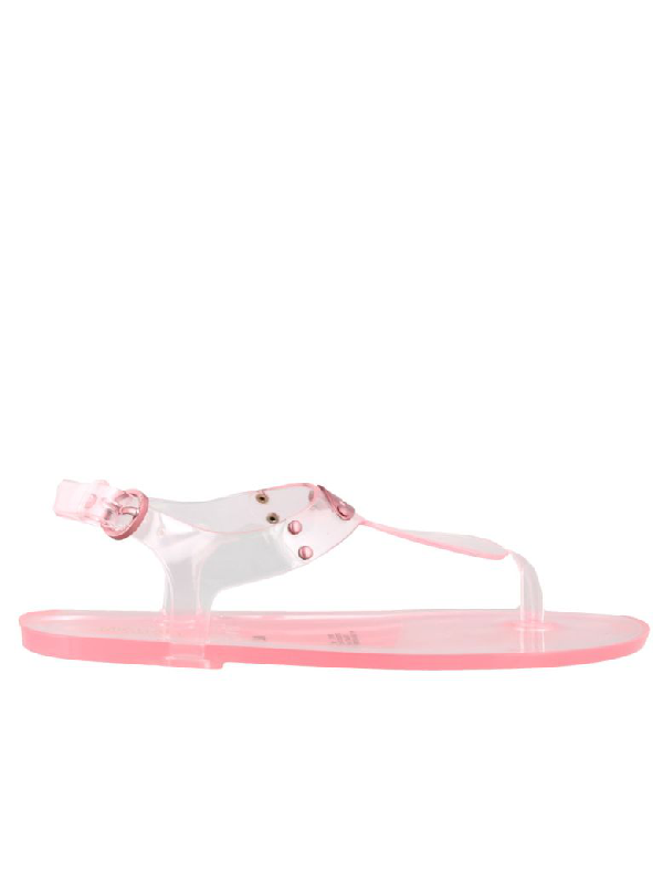 Michael Kors Jelly Thong Sandals In Pink
