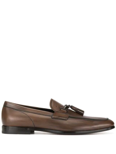 Tod's Buckle-detailed Loafers In Brown