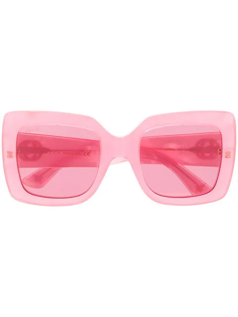 Gucci Eyewear Square Framed Glasses - Pink