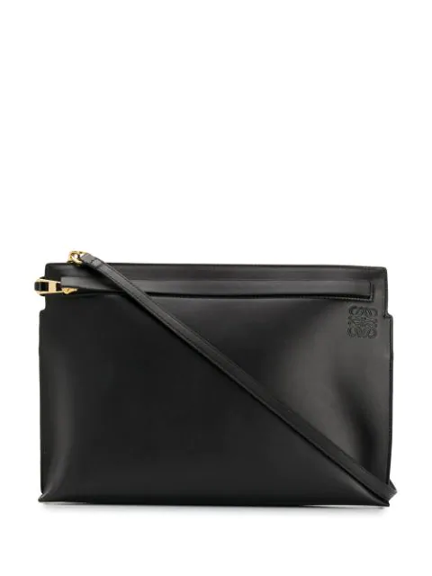Loewe Leather Messenger Bag In 1000 Nero