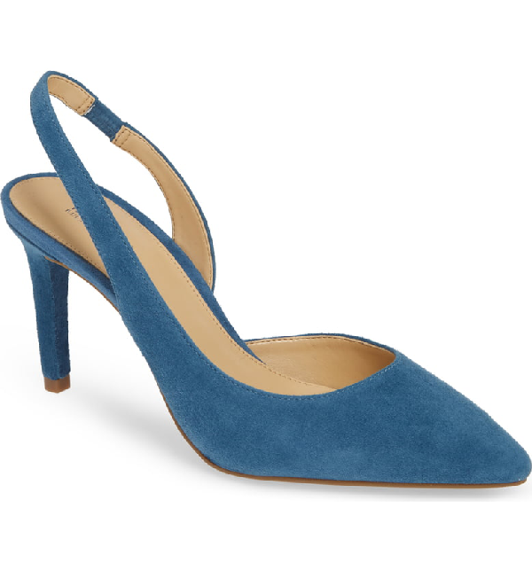 Michael Michael Kors Lucile Flex Slingback Pump In Dark Chambray Suede