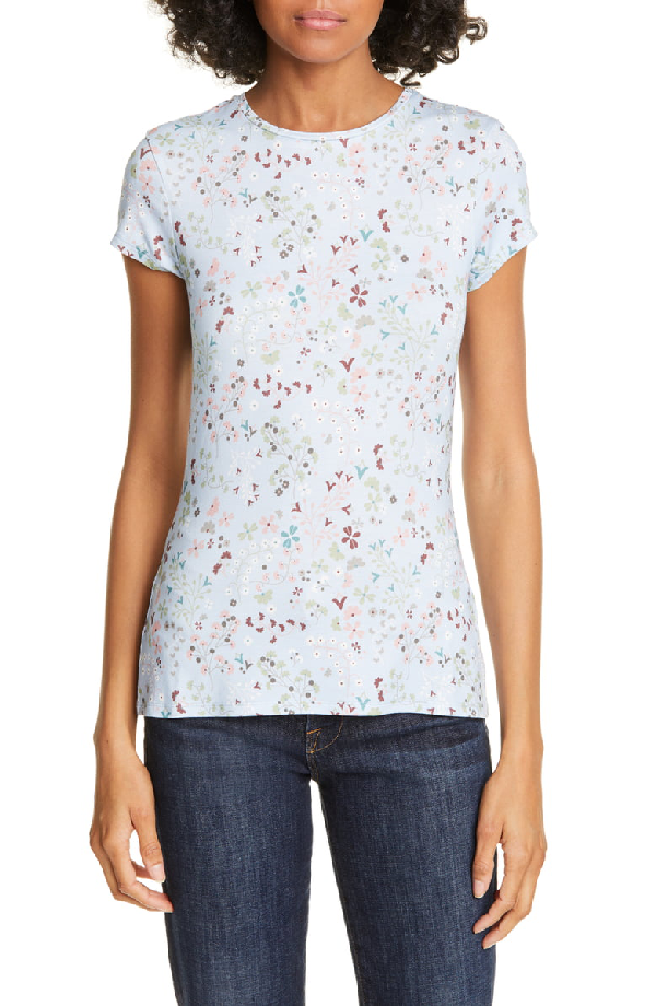 Ted Baker Popinya Hazel Fitted Tee In Pale Blue