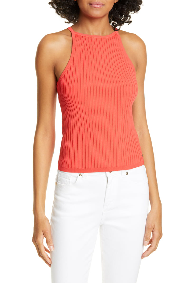 Ted Baker Myshil Knit Top In Red