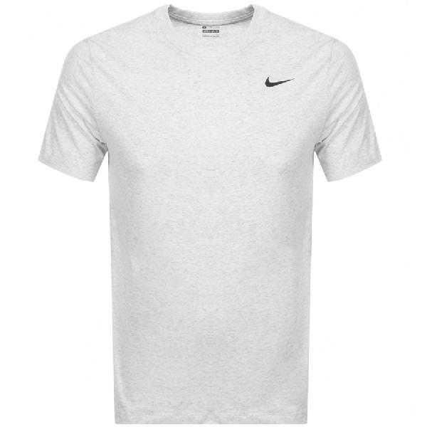Nike Training Crew Neck Logo T Shirt Grey