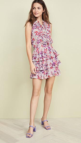 Misa Imelda Dress In Floral/Pink