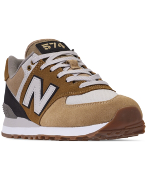 new balance men's 574 military patch casual sneakers from