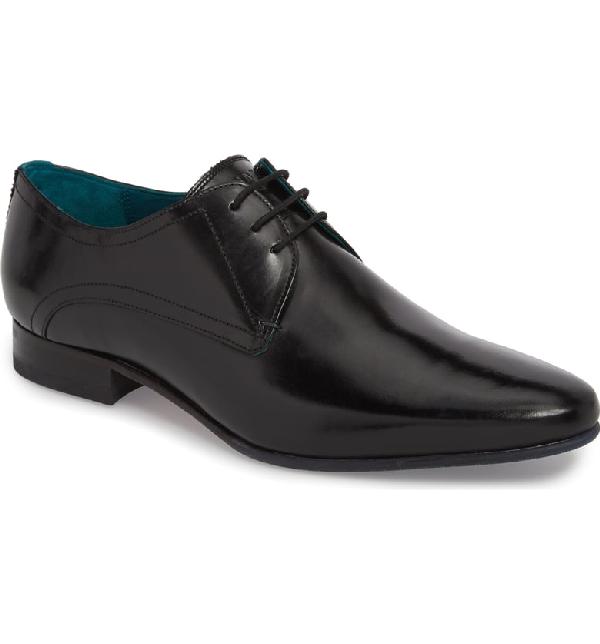 Ted Baker Men's Bhartli Leather Plain Toe Oxfords In Black Leather
