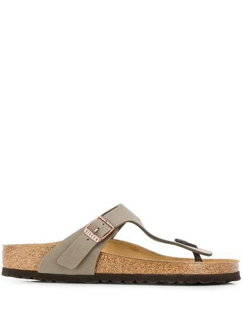 Birkenstock Flat Thong Sandals In Brown