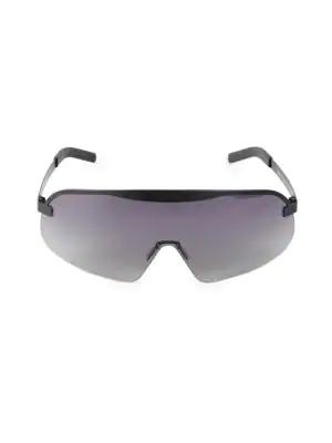 Illesteva 140Mm Hopper Gradient Matte Shield Sunglasses In Black/Gray