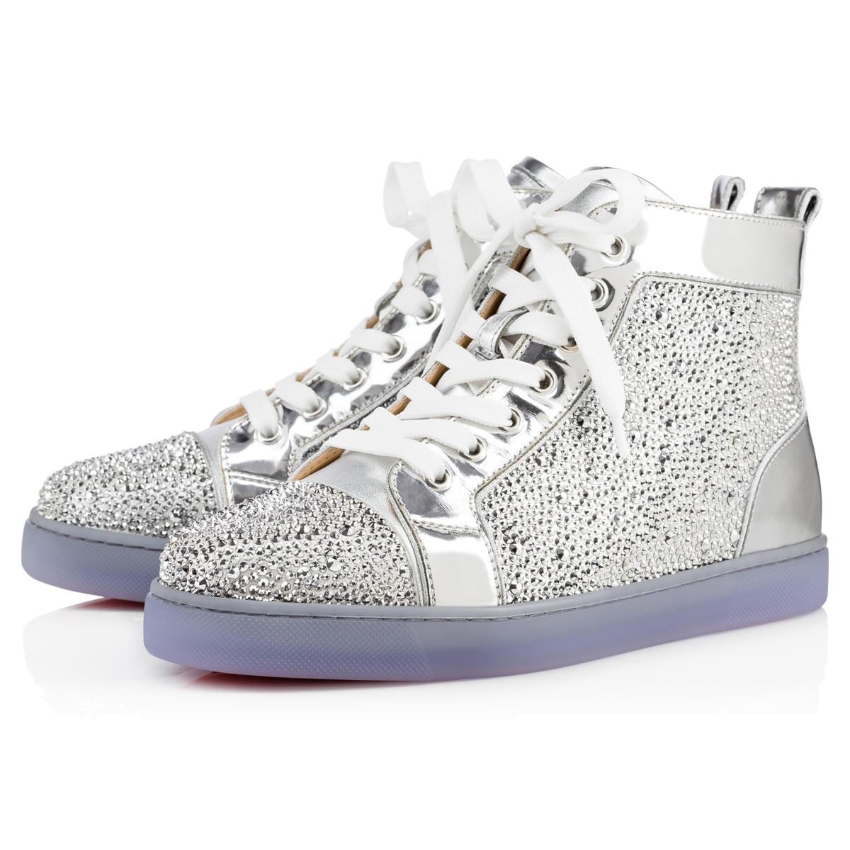 tout neuf c9c87 ab7e0 Louis Strass Women's Flat Version Silver Strass - Women Shoes - Christian  Louboutin
