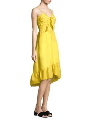 Joie Clorinda Cutout Poplin Dress In Pineapple