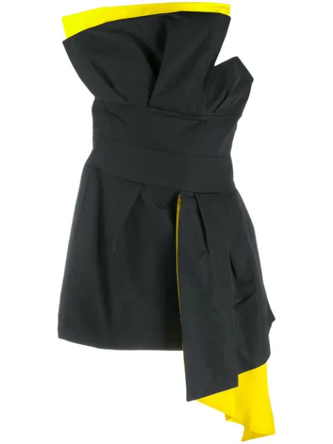 Alexandre Vauthier Contrast Lining Dress In Black